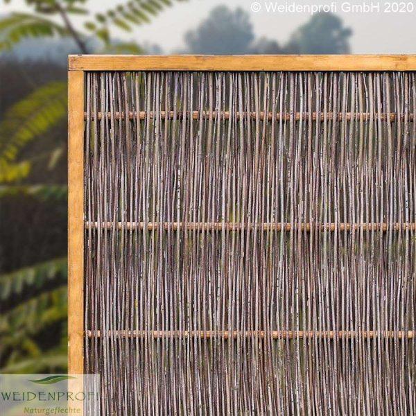 Weidenzaun LATO, Modell Solid, mit seitlichem Rahmen