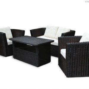 Weidenmöbel MODERNO, L0unge-Couch, 2-Sitzer mit Polster, 134 x 66 x 70