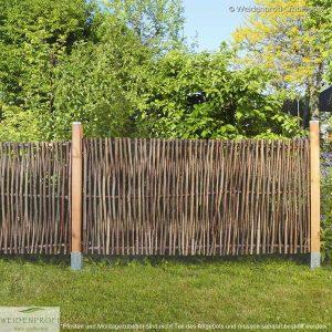 Gartenzaun Haselnuss LATO Universal, mit seitlichem Rahmen