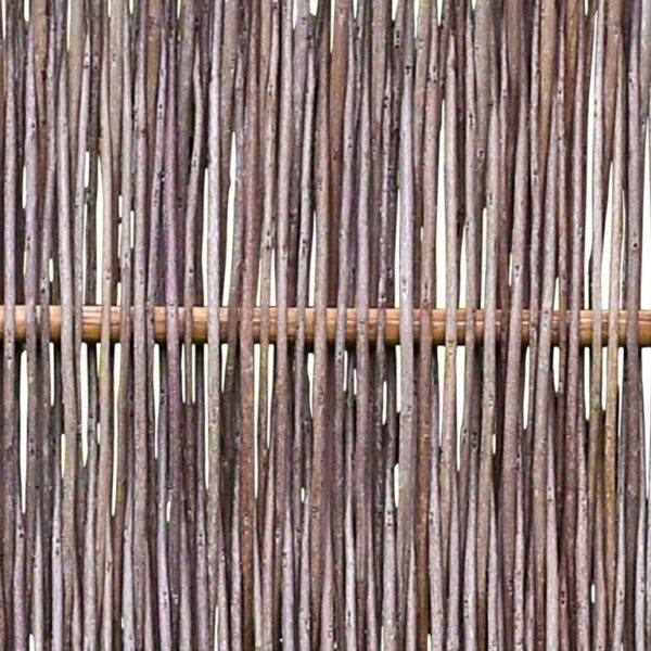 Robinienzaun CIRCO Komfort, senkrecht geflochten, 120 x 180